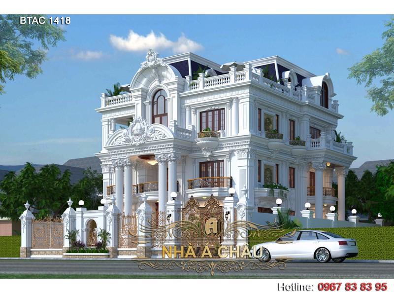biệt thự đẹp tân cổ điển 3 tầng