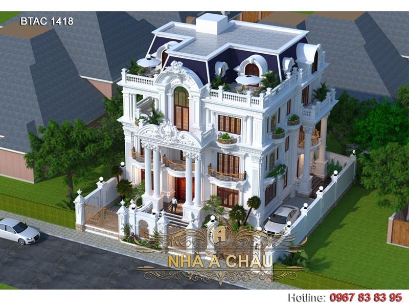 thiết kế biệt thự đẹp tân cổ điển 2020