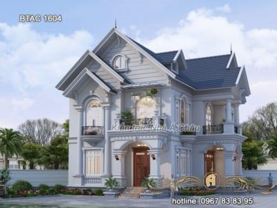 Ấn tượng với mẫu biệt thự tân cổ điển 2 tầng sang trọng tại Thái Nguyên - BTAC 1604