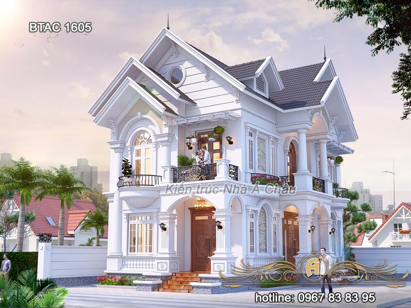 Dấu ấn trong thiết kế biệt thự mái thái đẳng cấp 2020 – BTAC 1605