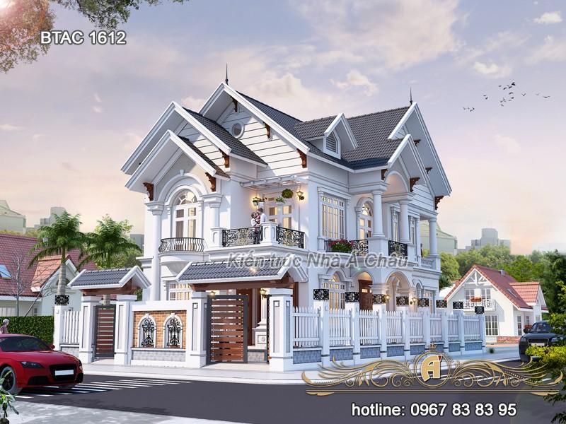 mẫu thiết kế nhà ở đẹp tân cổ điển