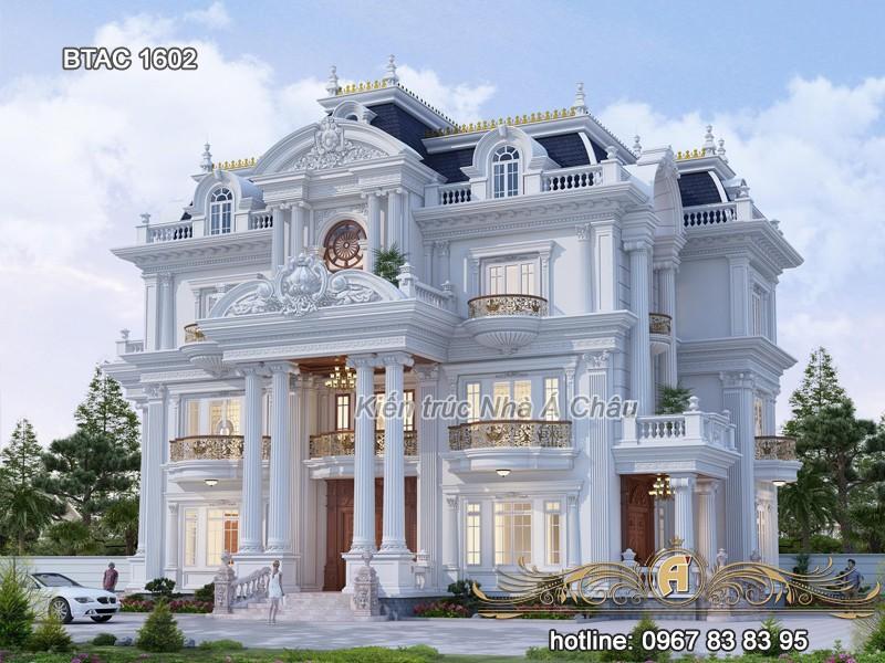 thiết kế biệt thự 3 tầng đẹp sang trọng 1602