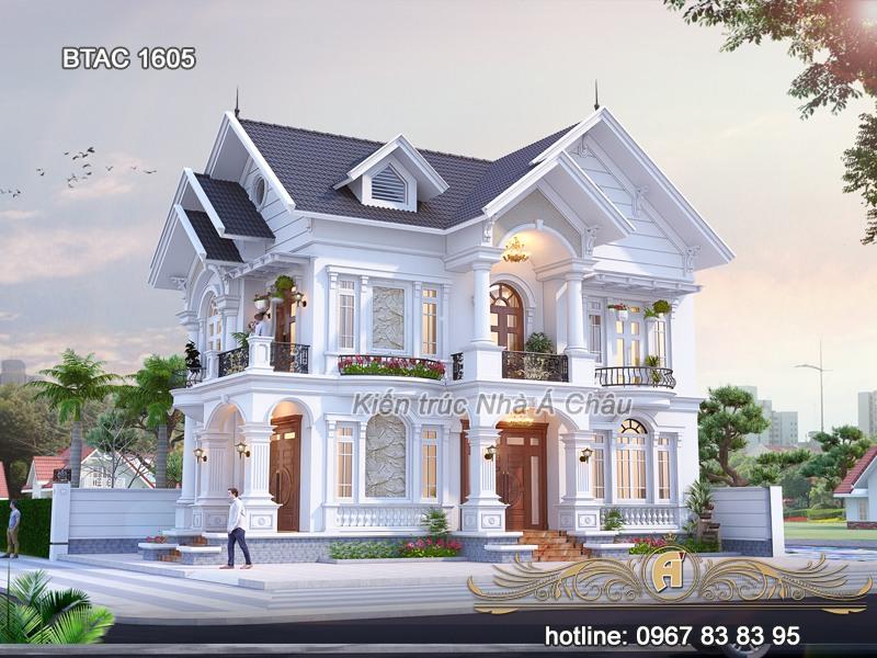 Nhà mái thái, thiết kế biệt thự 2 tầng mái thái, mẫu thiết kế biệt thự 2 tầng mái thái, thiết kế nhà biệt thự 2 tầng mái thái, bản thiết kế biệt thự 2 tầng mái thái, biet thu 2 tâng tan co dien
