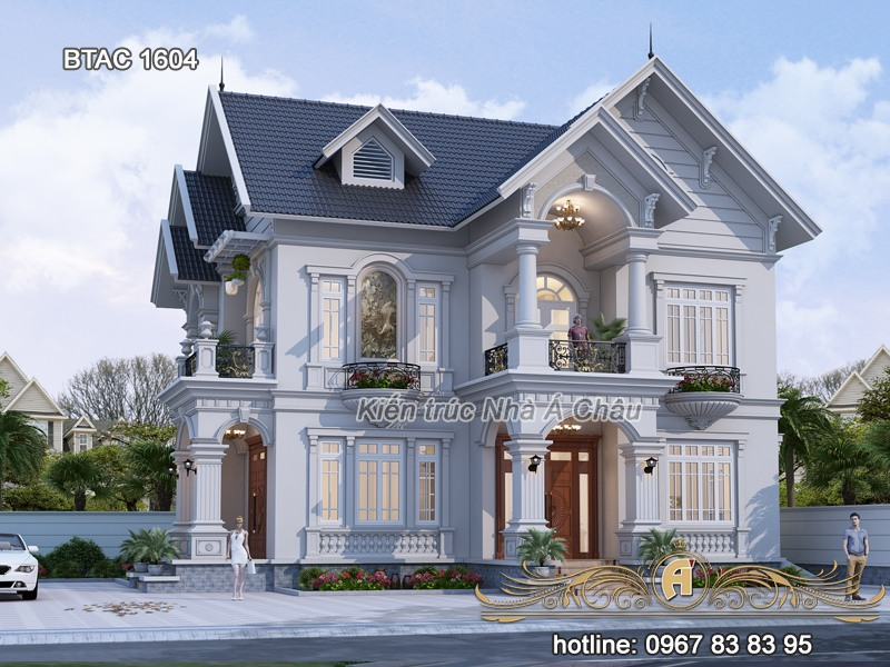 thiết kế biệt thự đẹp 2 tầng tại Thái Nguyên