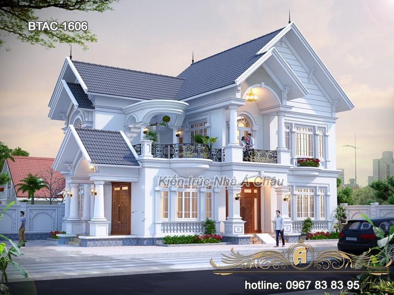 thiết kế biệt thự tại Thái Bình 2 tầng đẹp