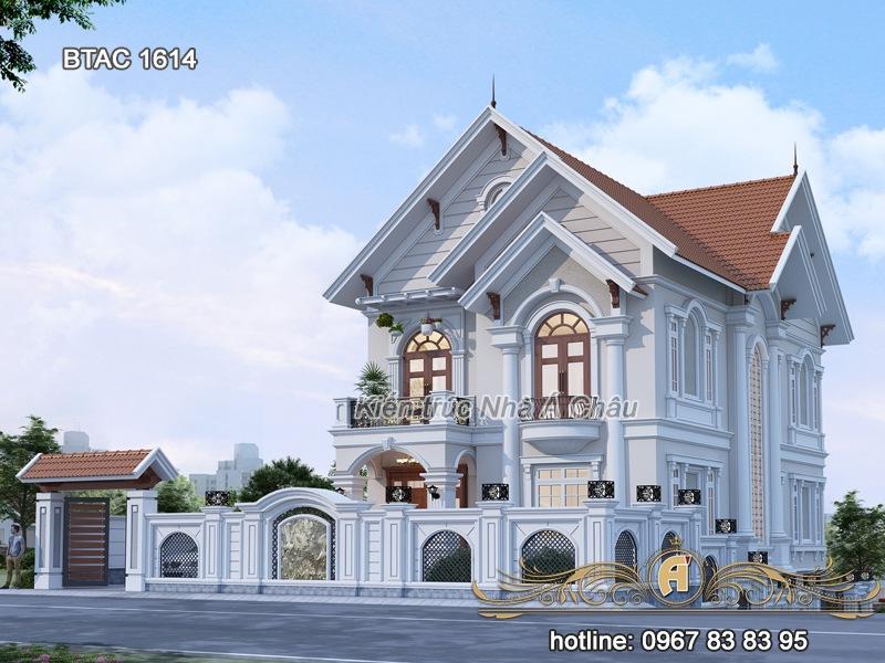 mẫu nhà 2 tầng đẹp tân cổ điển 2020 mới nhất hiện nay