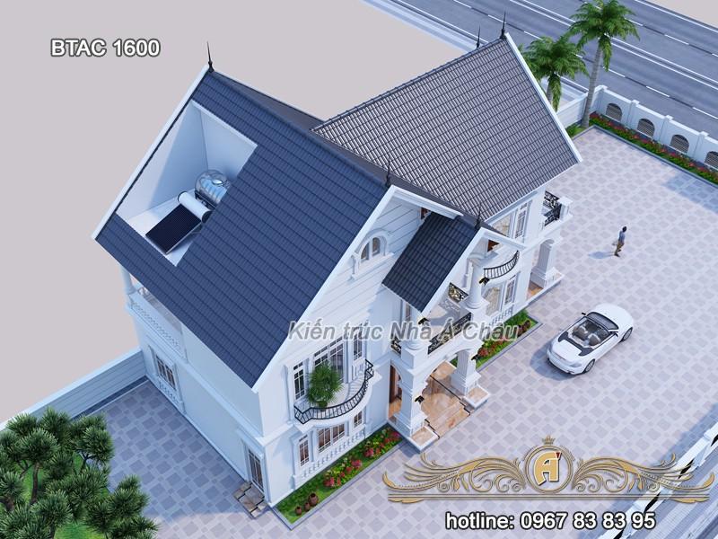 mẫu thiết kế biệt thự 2 tầng đẹp tân cổ điển, thiết kế biệt thự tại Tây Ninh
