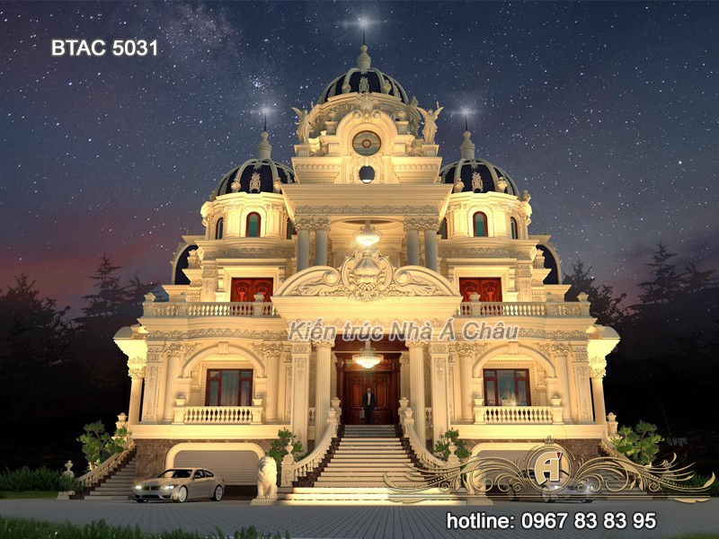 thiết kế lâu đài đẹp kiểu pháp tân cổ điển 2020