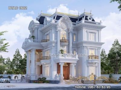Say đắm lòng người với mẫu biệt thự tân cổ điển 3 tầng sang trọng – BTAC 1602