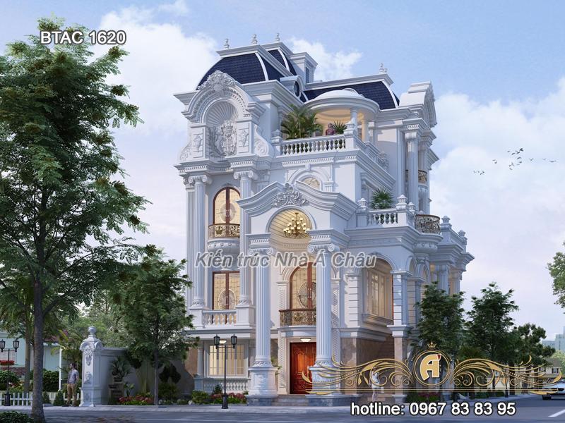 nhà biệt thự tân cổ điển 4 tầng đẹp 1620