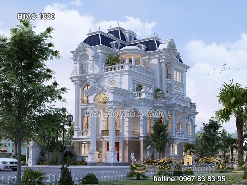 Khám phá Biệt thự tân cổ điển 4 tầng tuyệt đẹp – BTAC 1620