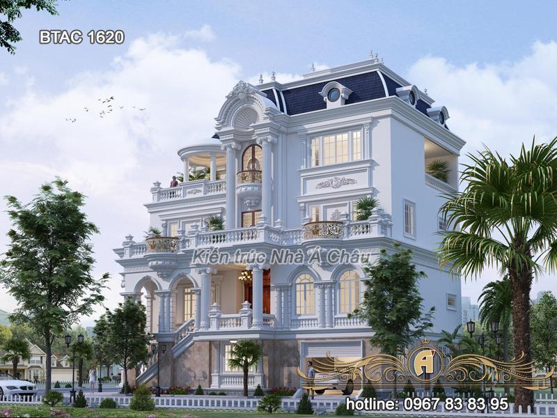 biệt thự đẹp 4 tầng 2020