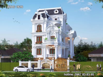 101 Mẫu biệt thự mái Mansard kiến trúc Pháp đẹp mê hồn (P2)