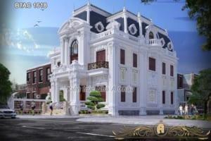 Mẫu thiết kế biệt thự Hưng Yên - BTAC 1618 đẹp lộng lẫy