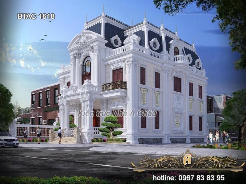 thiết kế biệt thự Hưng Yên tân cổ điển đẹp