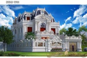Biệt thự 3 tầng kiểu Pháp đẹp lộng lẫy ở Hưng Yên - BTAC 1701