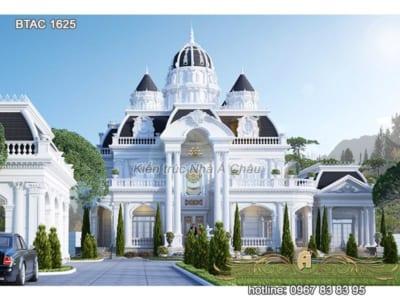 Mẫu biệt thự trắng Tân Cổ Điển sang trọng bậc nhất hiện nay - BTAC 1625