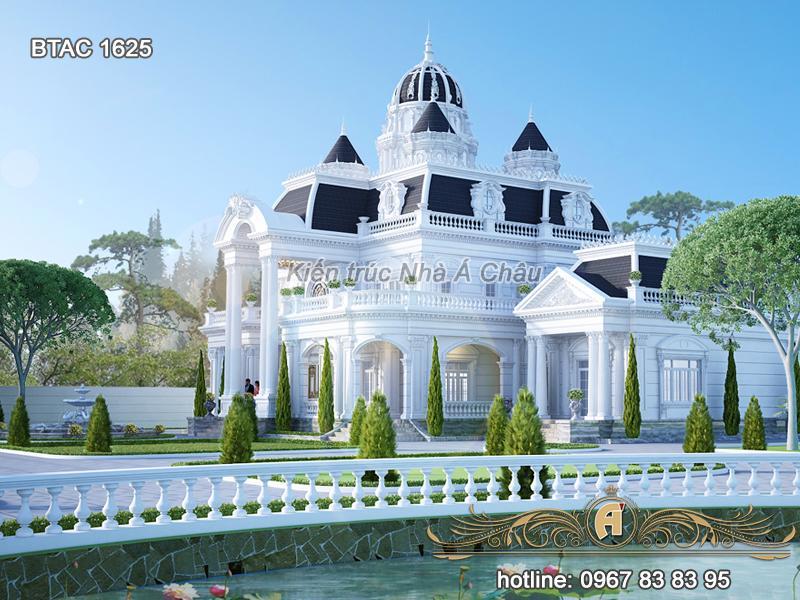 Tổng hợp các mẫu biệt thự trắng 3 tầng đẹp nhất 2021