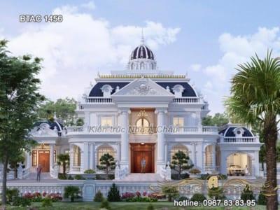 Mẫu nhà biệt thự 2 tầng đẹp nhất hiện nay –  BTAC 1456