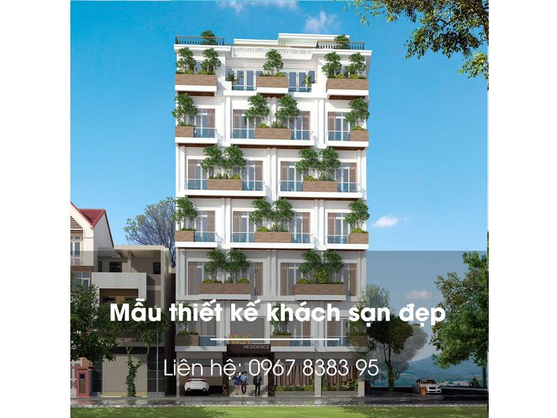 thiết kế Khách sạn xanh đẹp