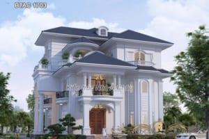 Biệt thự 3 tầng đẹp ở Lào Cai - BTAC 1703