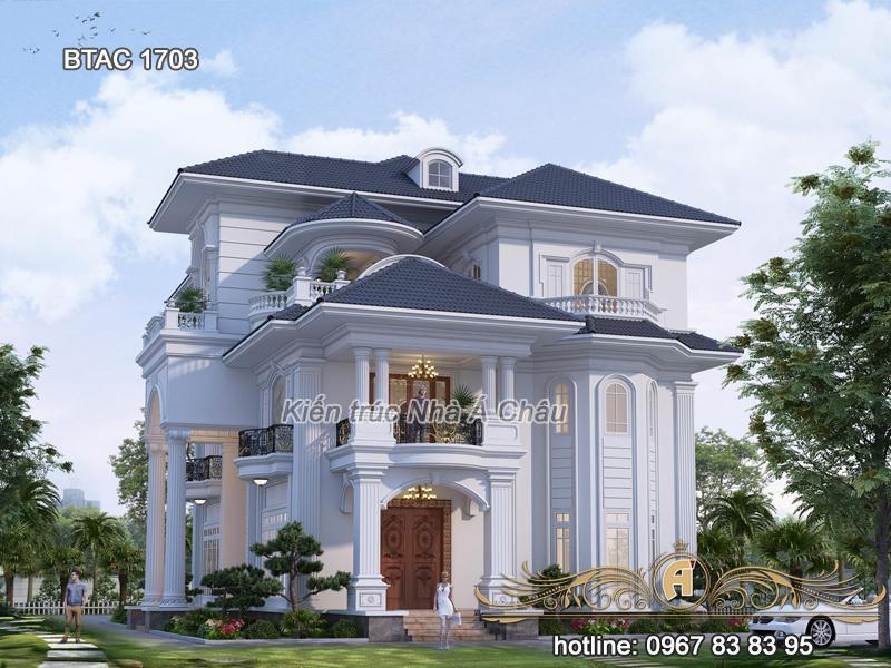 Biệt thự 3 tầng đẹp ở Lào Cai – BTAC 1703
