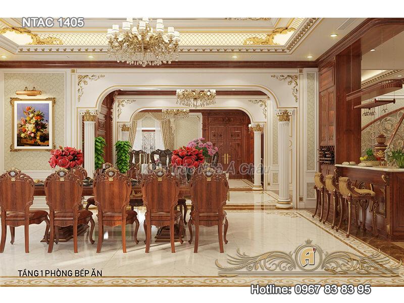 Nội thất bên trong biệt thự, Tang 1 Phong Bep An