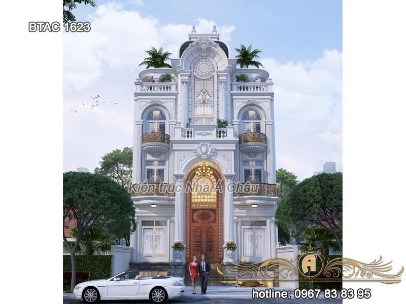 Biệt thự 4 tầng mặt tiền rộng 10m sang trọng tại Bắc Ninh – BTAC 1623