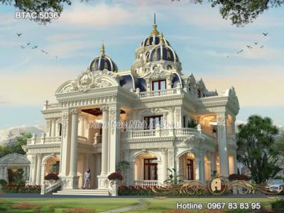 Thiết kế biệt thự cổ điển 3 tầng đẹp nhất Hưng Yên – BTAC 5036