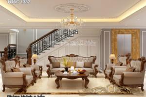 Thiết kế nội thất nhà biệt thự ở kết hợp kinh doanh - NTAC 1332