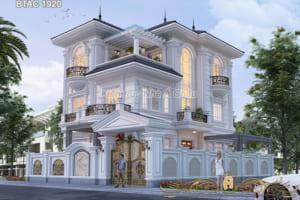 Mẫu biệt thự 3 tầng 2 mặt tiền đẹp tại Vĩnh Phúc - BTAC 1920