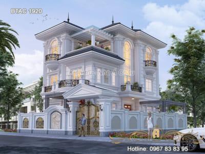 Mẫu biệt thự 3 tầng 2 mặt tiền đẹp tại Vĩnh Phúc – BTAC 1920