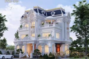 Choáng ngợp trước biệt thự trắng 3 tầng tại Thái Bình - BTAC 1913