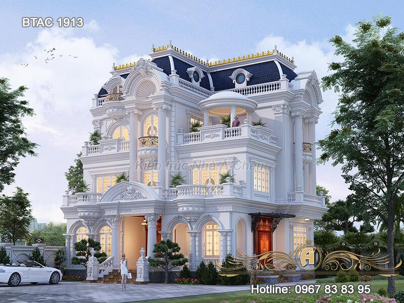 Choáng ngợp trước biệt thự trắng 3 tầng tại Thái Bình – BTAC 1913