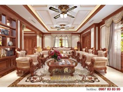 Ấn tượng với mẫu thiết kế nội thất biệt thự tân cổ điển lộng lẫy