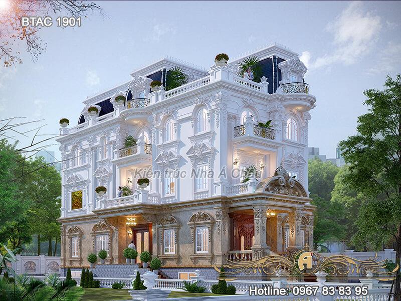 Biệt thự 3 tầng cổ điển đẹp tại Đồng Nai – BTAC 1901
