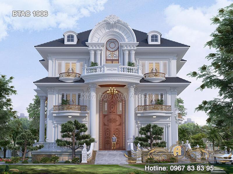 Biệt thự nhà vườn 3 tầng ở Yên bái- BTAC 1906