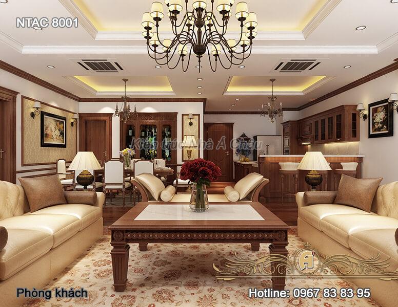 Thiết kế nội thất chung cư sang trọng, đẹp, độc nhất 2020 – NTAC 8001