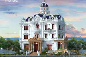 Chiêm ngưỡng biệt thự cổ điển 3 tầng đẹp ở Bình Dương- BTAC 1630