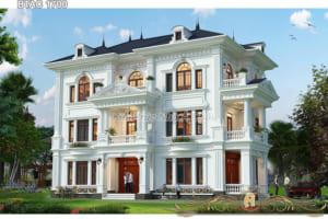 Biệt thự nhà phố tân cổ điển 3 tầng đẹp ở Nghệ An - BTAC 1700
