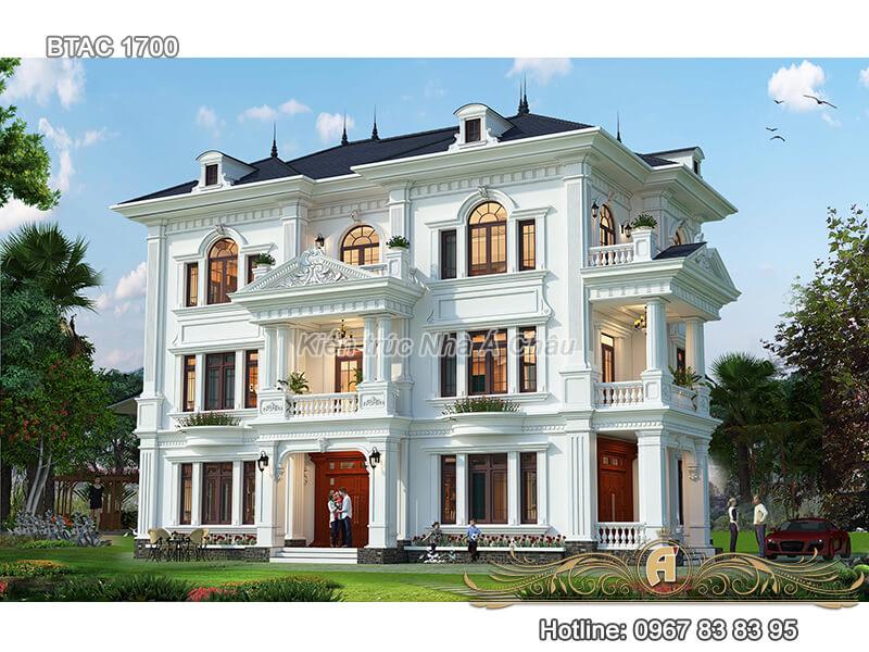 Biệt thự nhà phố tân cổ điển 3 tầng đẹp ở Nghệ An – BTAC 1700