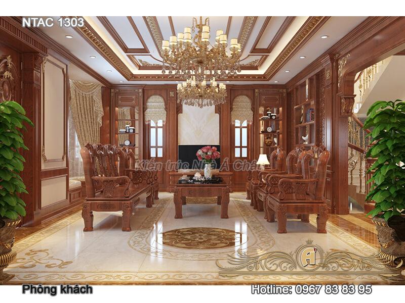 Mẫu thiết kế nội thất biệt thự đẹp tại Bắc Ninh – BTAC 1303