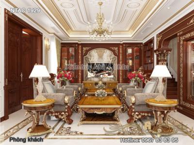Thiết kế nội thất tân cổ điển bằng gỗ gõ đỏ – NTAC 1929