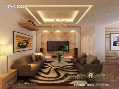 Thiết kế nội thất mẫu 8002 phong cách hiện đại tối giản