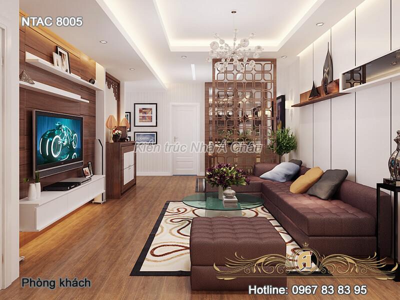 Thiết kế nội thất chung cư hiện đại và giản dị NTAC 8005