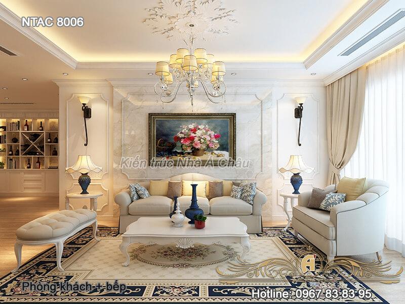 Mẫu thiết kế nội thất căn hộ cao cấp ở Times City – NTAC 8006