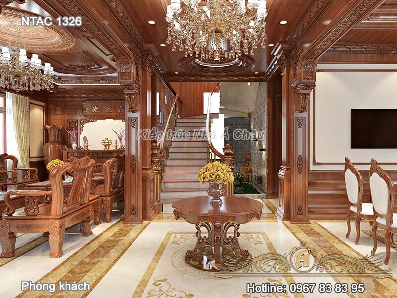 Thiết kế nội thất phòng khách NTAC 1326