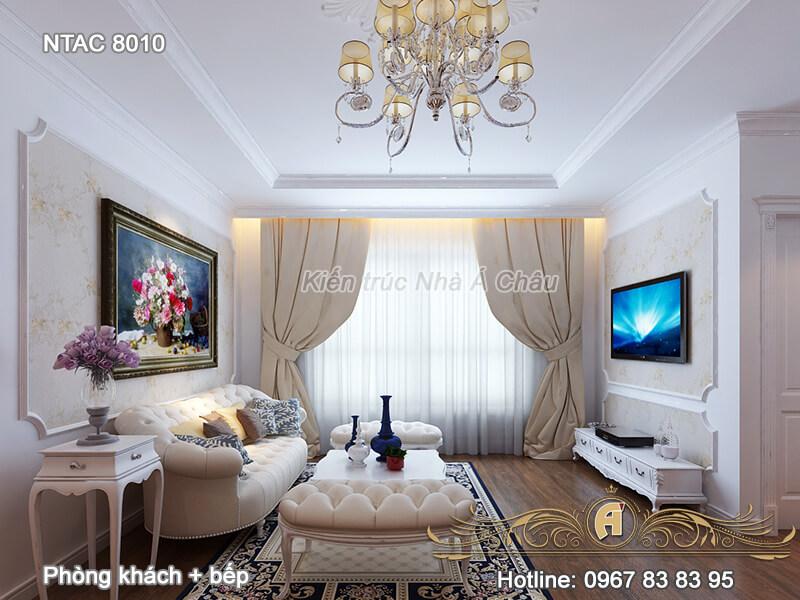 Mẫu thiết kế nội thất chung cư 100m2 – NTAC 8010