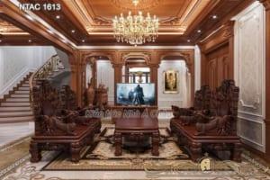 Hình ảnh nội thất gỗ gõ đỏ sang trọng NTAC 1613
