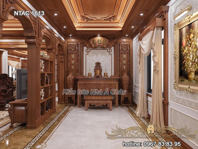 Thiết kế nội thất phòng thờ NTAC 1613